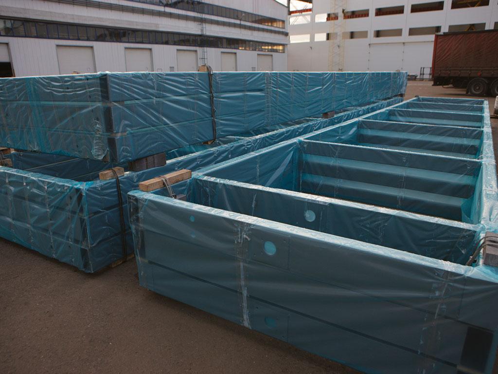 Створки изготавливаются из отдельных рам, имеющих транспортные габариты для удобства доставки на объект. ДорХан