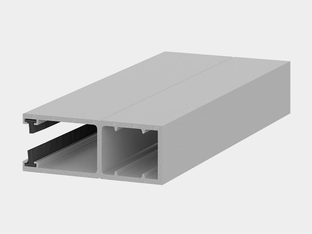 Усиленный направляющий профиль RG62BS. Главной особенностью профиля RG62BS является толщина стенки — она в 2,5 раза превышает аналогичный параметр стандартной направляющей.