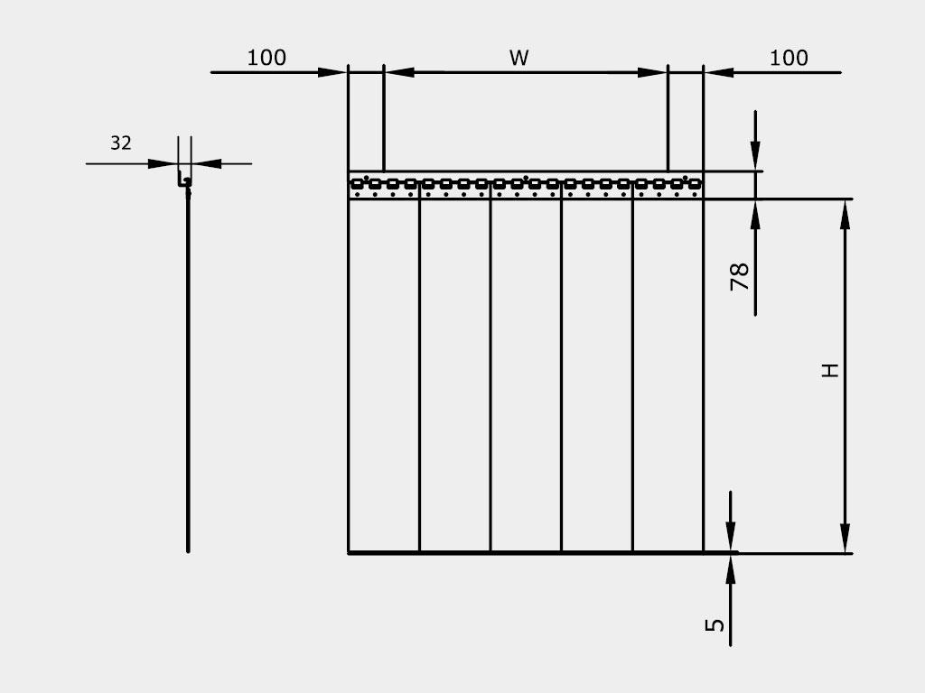Установка полосовой пленочной завесы производится внакладку на проем ДорХан