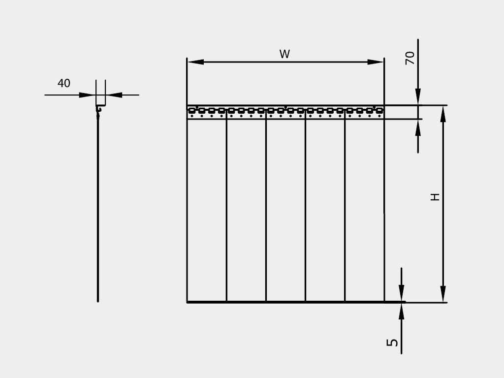 Установка полосовой пленочной завесы производится внутри проема ДорХан