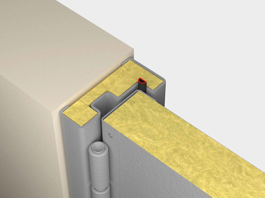 В качестве опции также доступно заполнение рамы минеральной ватой для улучшения теплоизоляционных свойств конструкции ДорХан