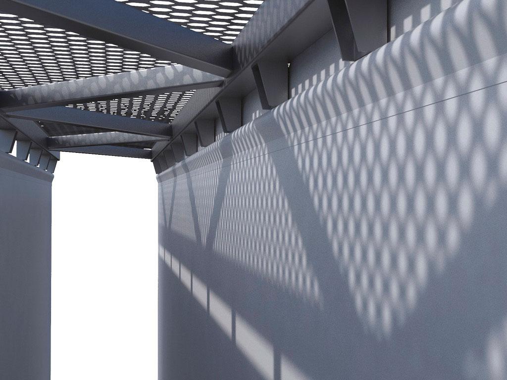 Верх полотна закреплен на металлоконструкции строительной части ангара с помощью узлов крепления, позволяющих регулировать натяжение тентов. ДорХан