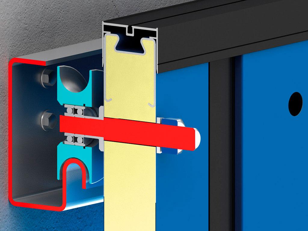 Верхний стальной ролик полотна ворот имеет улучшенные прочностные характеристики, что продлевает рабочий ресурс ворот. ДорХан