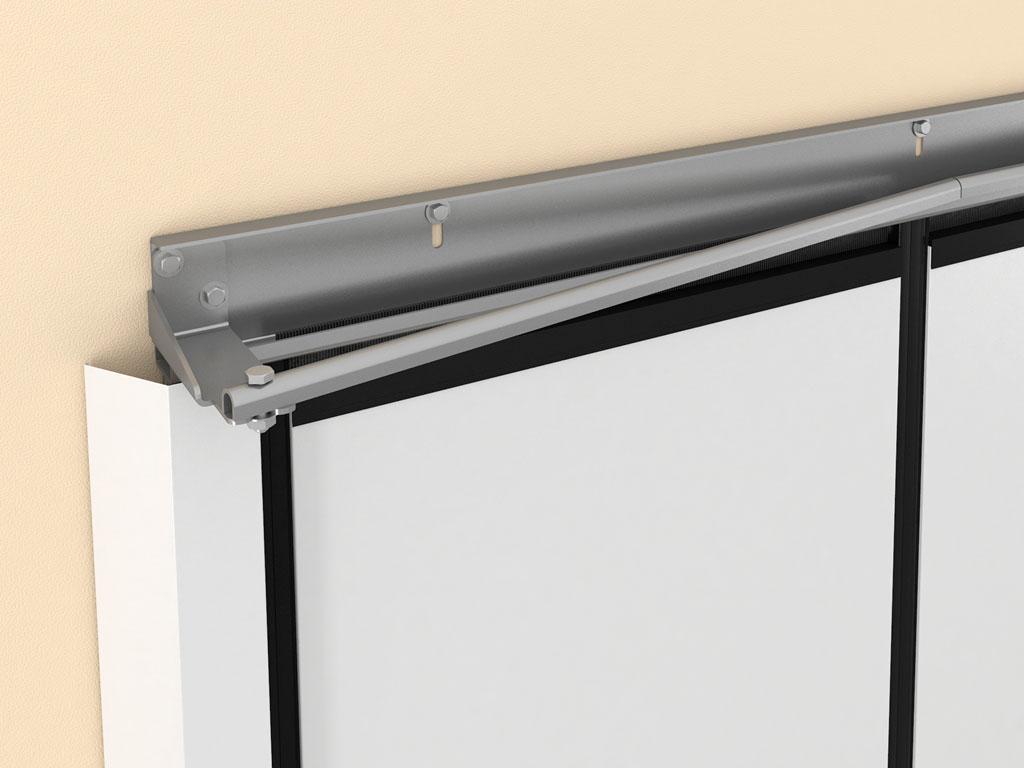 Верхняя направляющая с отклоняющими системами для формирования компактной пачки панелей. ДорХан