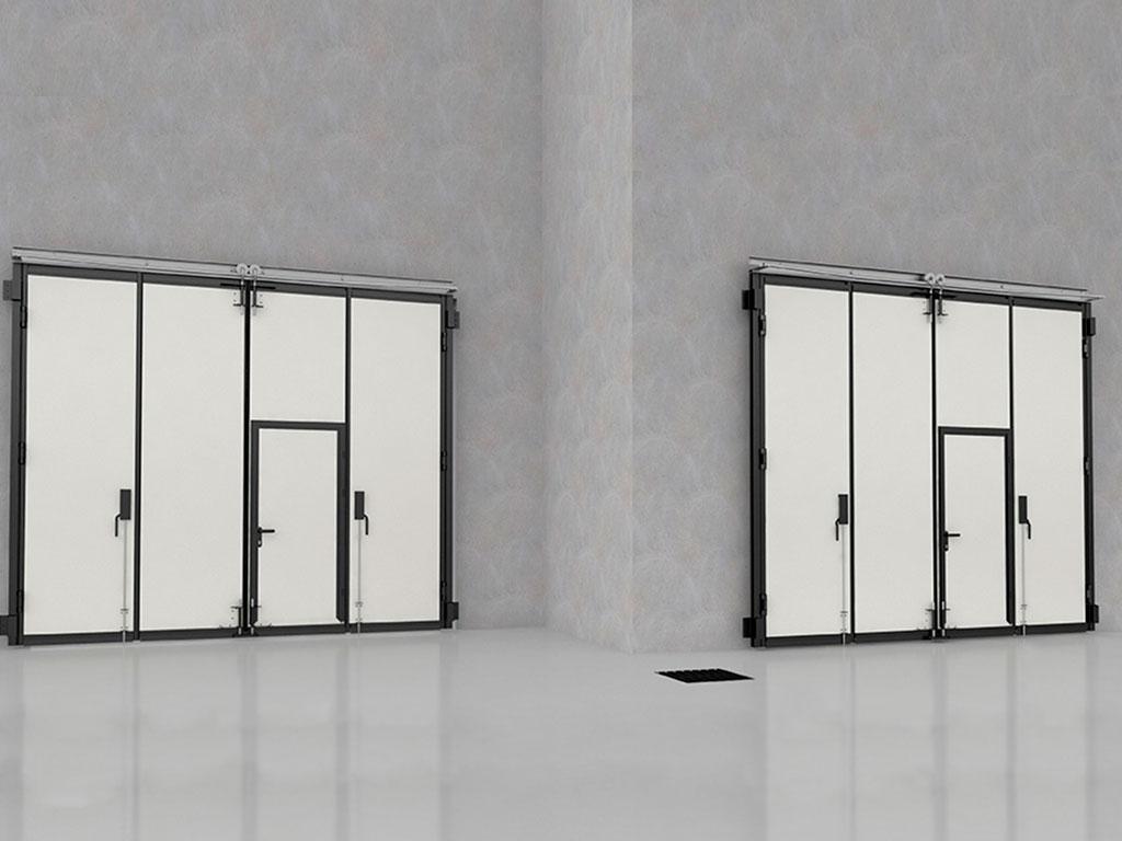 Внутренняя сторона складных ворот без нижней направляющей ДорХан