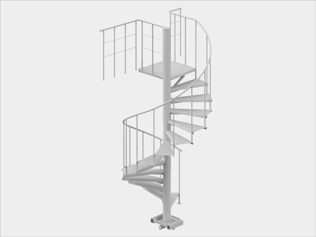Внутренняя винтовая лестница с перилами и ограждениями второго этажа ДорХан