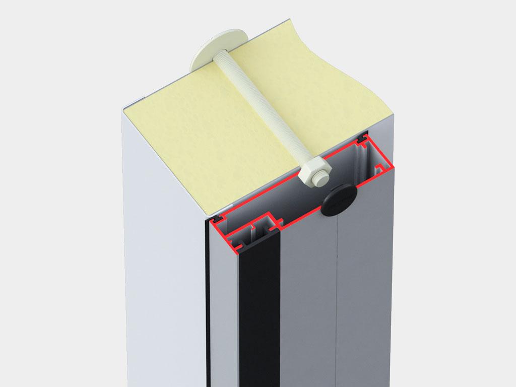 Алюминиевая рама с кабель-каналом для установки ПЭН ДорХан