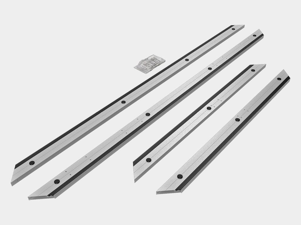 Алюминиевая рама с кабель-каналом для установки ПЭНа обогрева. ДорХан