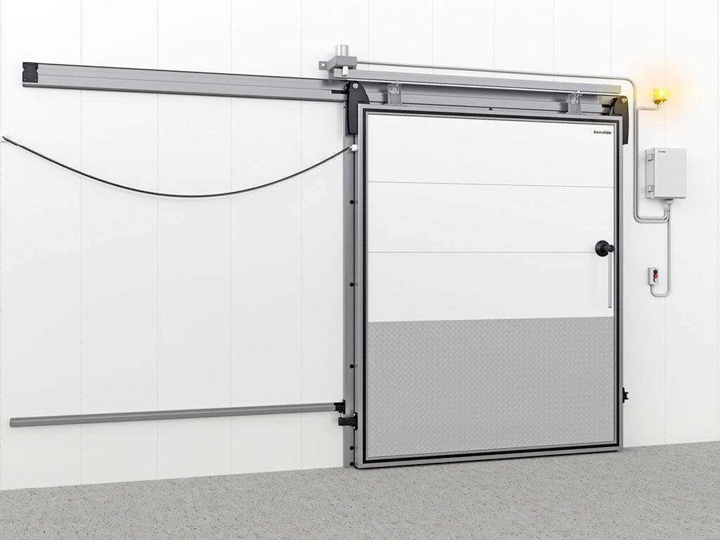 Автоматизация для откатных холодильных дверей. Данная опция позволяет обеспечить удобную эксплуатацию двери при высокой интенсивности использования. ДорХан