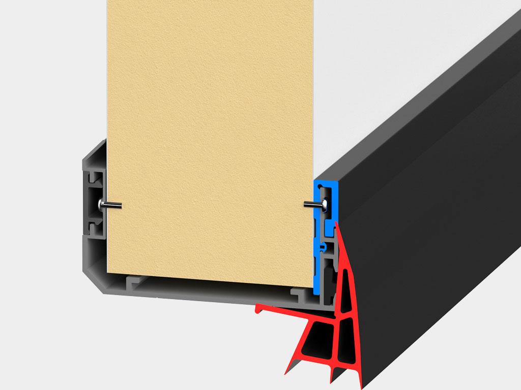 Беспороговое исполнение. Нижний уплотнитель обеспечивает высокую герметизацию проёма ДорХан