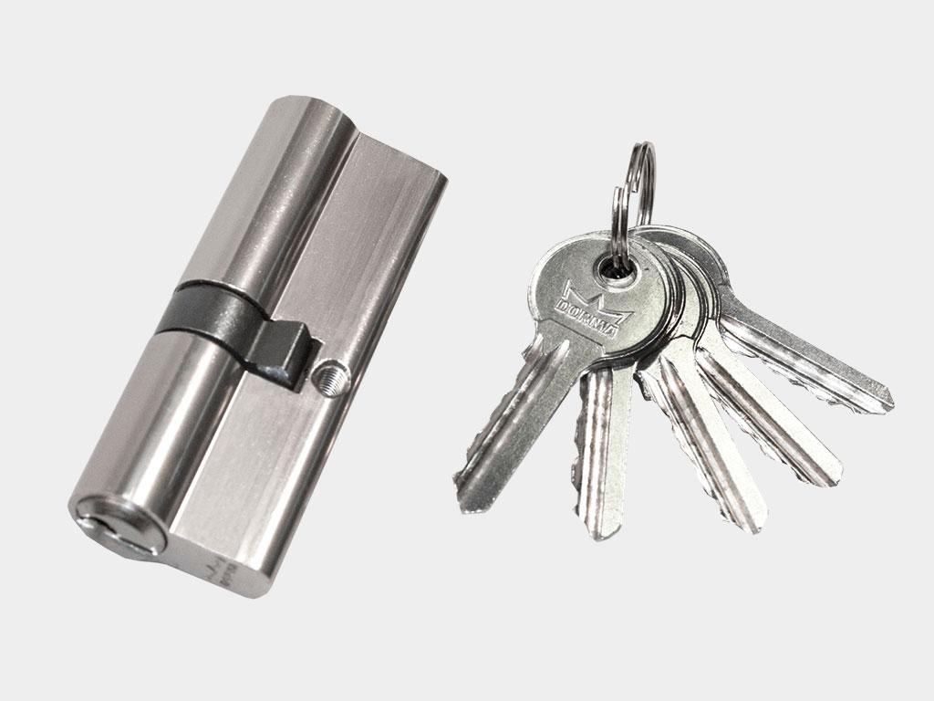 Цилиндровый механизм «ключ-ключ» с 5 ключами в комплекте ДорХан