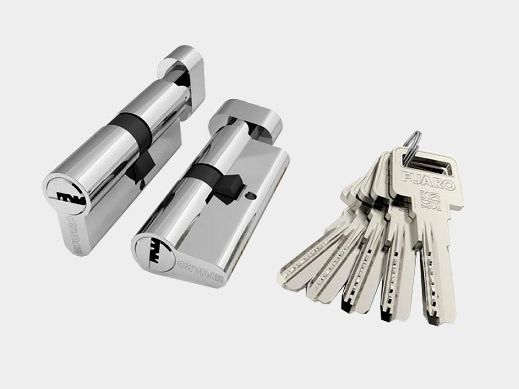 Цилиндровый механизм «ключ-вертушка» с 5 ключами в комплекте ДорХан