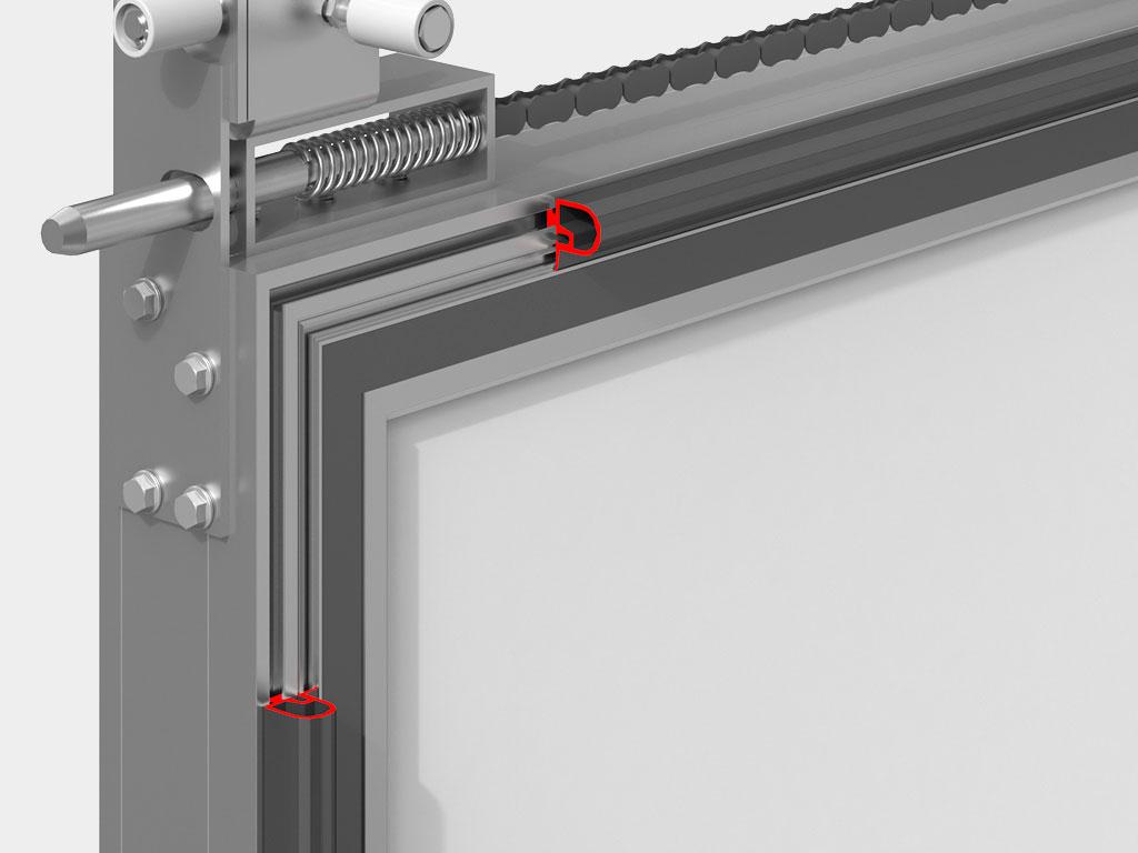 Уплотнитель периметра полотна двери