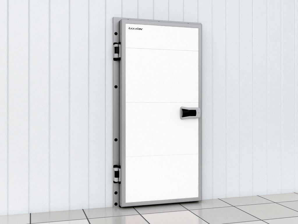 Дверь промышленная распашная для охлаждаемых помещений ДорХан