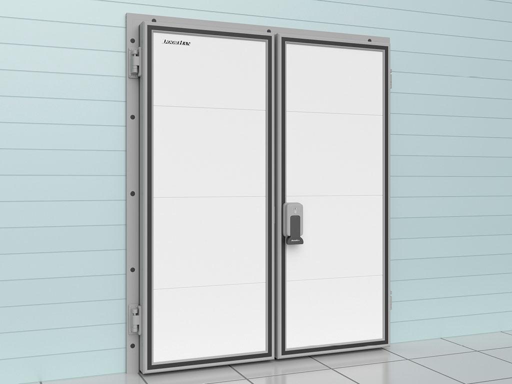 Дверь распашная двустворчатая для охлаждаемых помещений ДорХан