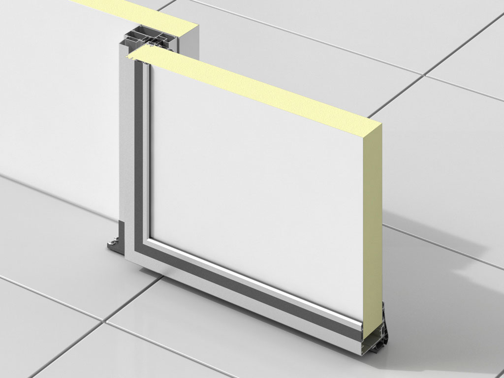 Дверь-вертикально-подъемная-для-охлаждаемых-помещений-Среднетемпературное-исполнение ДорХан