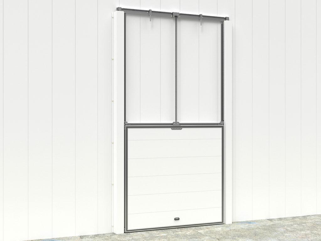 Внешняя сторона вертикально-подъемной двери