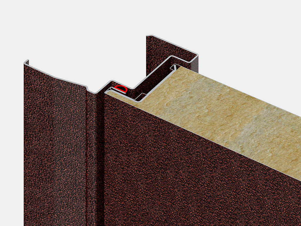 Дверная коробка для накладного монтажа самая популярная. Наличник коробки одновременно выполняет две функции: перекрывает монтажный зазор и выполняет декоративную функцию.