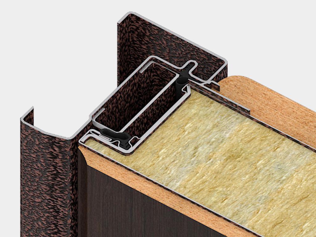 Дверная коробка для врезного монтажа позволяет устанавливать дверь как с открыванием во внутрь, так и внешним открыванием. А также дает возможность устанавливать дверь на объекте без пристенка. ДорХан