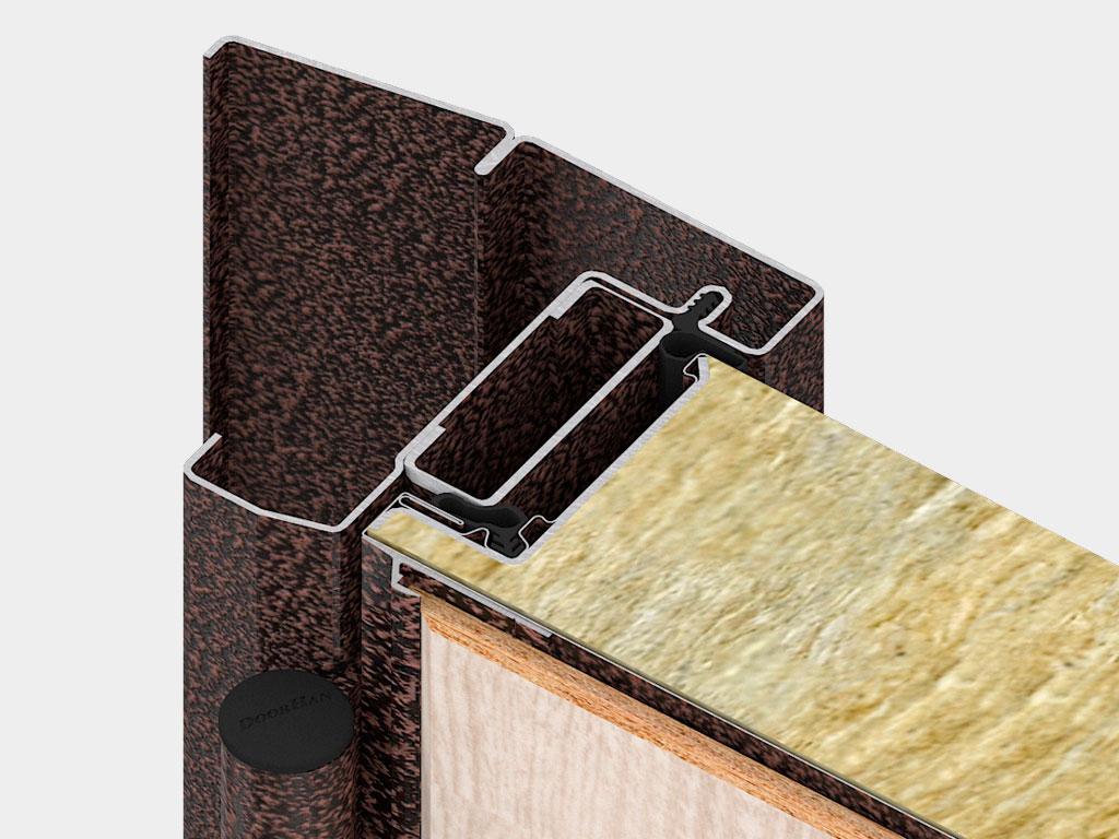 Дверная коробка внутреннего открывания устанавливается там, где есть требования к эвакуации и необходимо открывание двери внутрь помещения. ДорХан