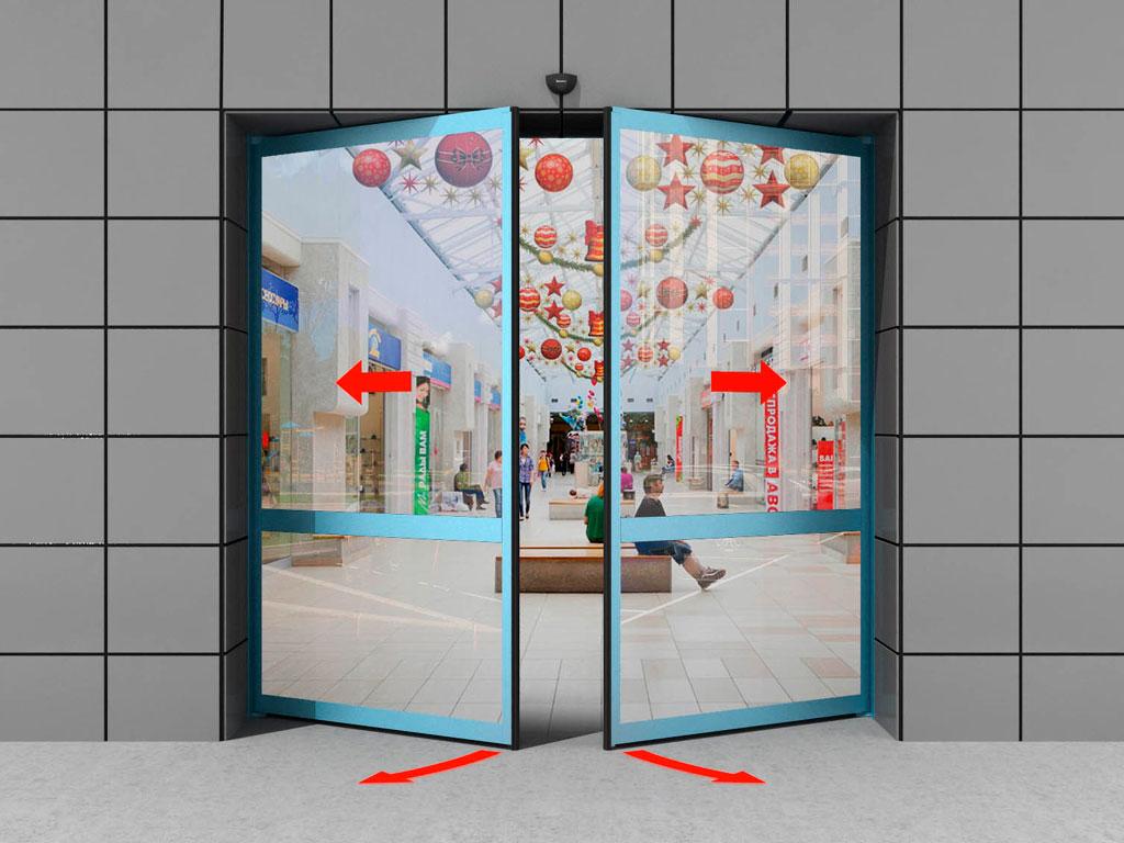 Двустворчатая дверь «антипаника» (с функцией распахивания) ДорХан