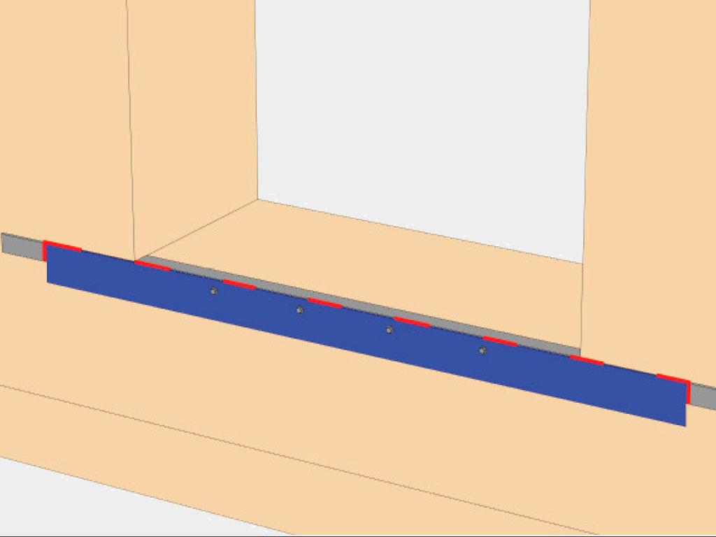 Исполнение для выступа пандуса здания 0 мм (пандус здания заподлицо со стеной здания) ДорХан