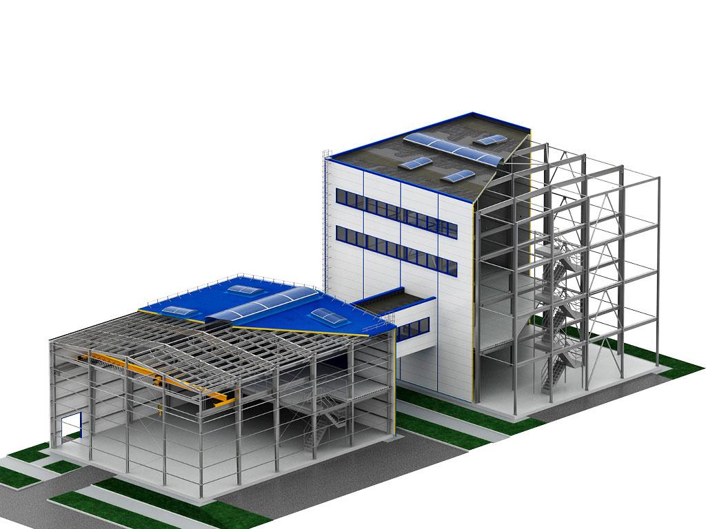 Каркасные здания по индивидуальным проектам ДорХан