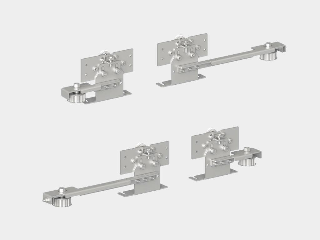 * Комплект кареток (4 шт.) для внешних створок в приводе AD-SP-Telescope ДорХан