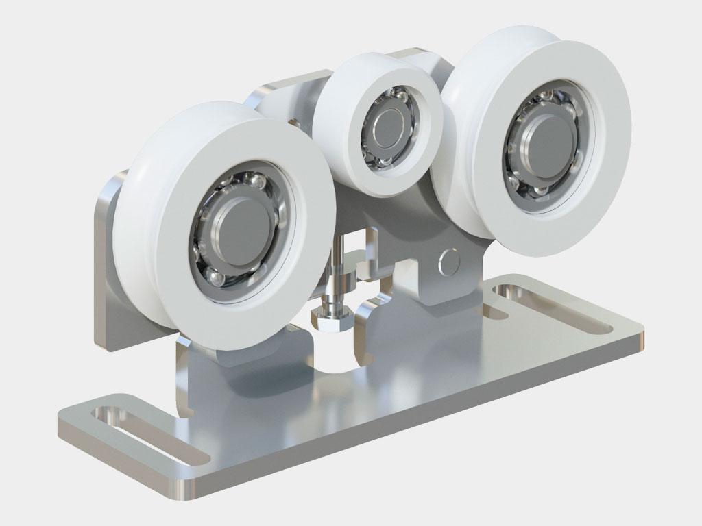 Комплект кареток (арт. AD-15SP, 4 шт.) в приводе AD-SP ДорХан