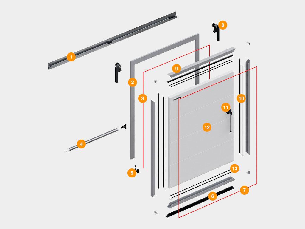 Конструкция-Дверь-откатная-для-охлаждаемых-помещений ДорХан