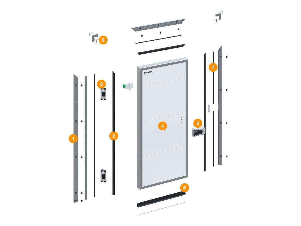 Конструкция-Дверь-промышленная-распашная-для-охлаждаемых-помещений ДорХан