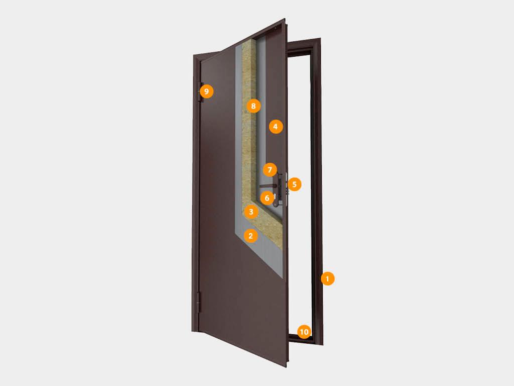 Конструкция-Двери-бытовые-«Лидер» ДорХан