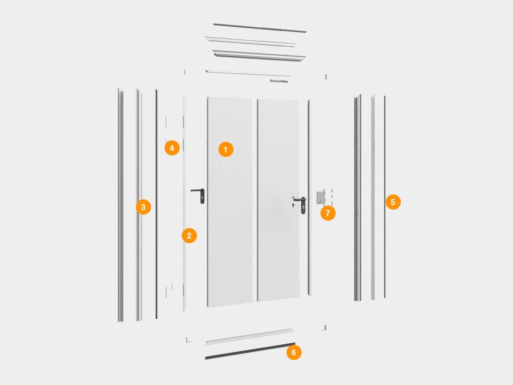Конструкция-Двери-технологические-одностворчатые ДорХан