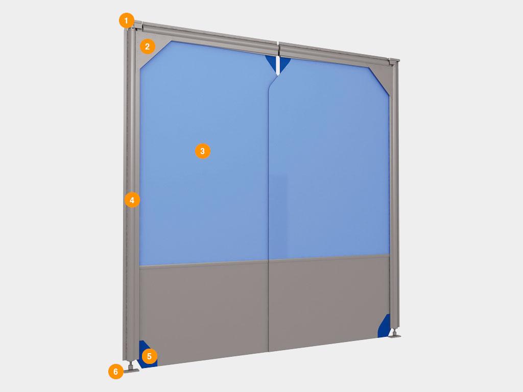 Пленочные маятниковые двери серии SSD ДорХан