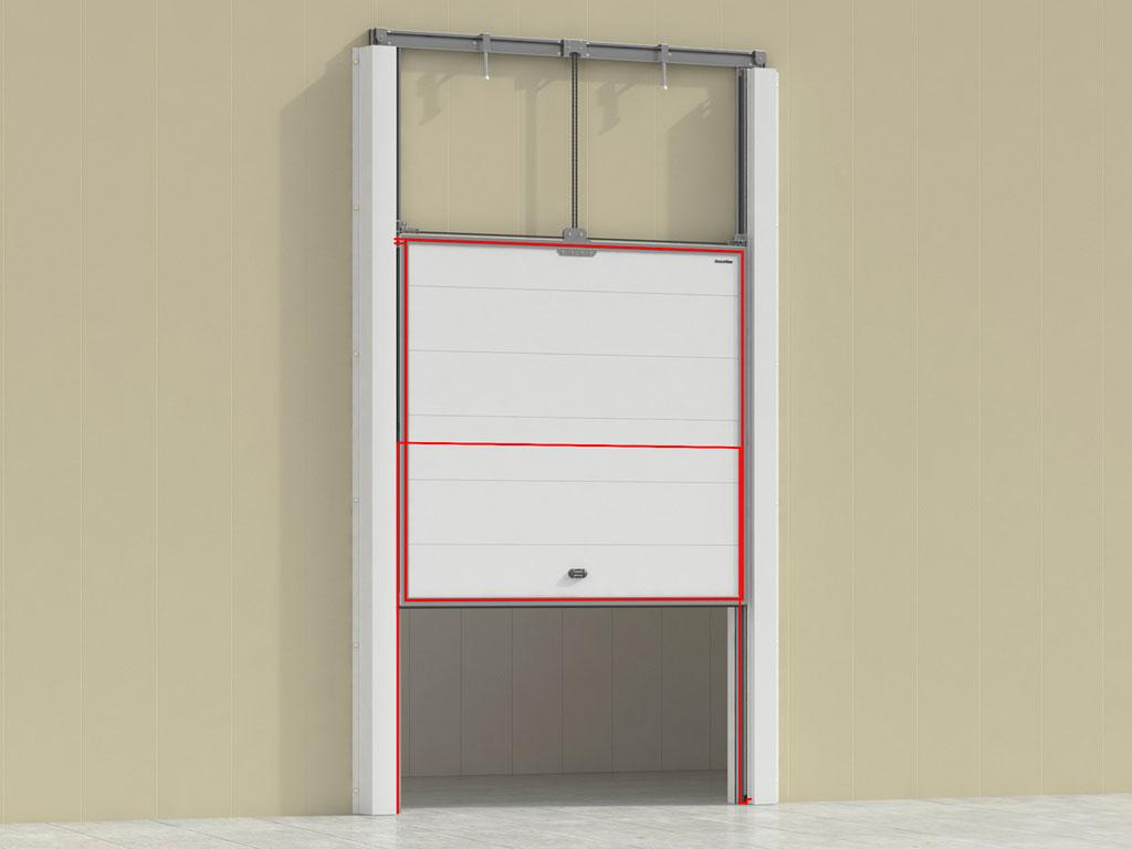 Контуры обогрева полотна и рамы позволяют эксплуатировать двери при самых низких температурах. ДорХан