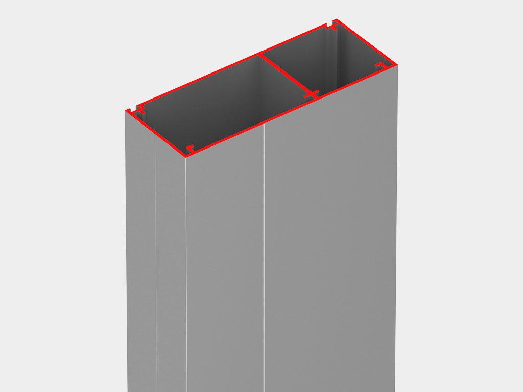 Лёгкая и надёжная алюминиевая рама обеспечивает простоту монтажа и высокие антикоррозионные показатели ДорХан