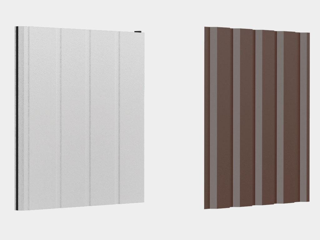 Материал стен — сэндвич-панель (цвет снаружи и внутри RAL 9003); материал крыши — профилированные листы С44 (оцинкованные) ДорХан