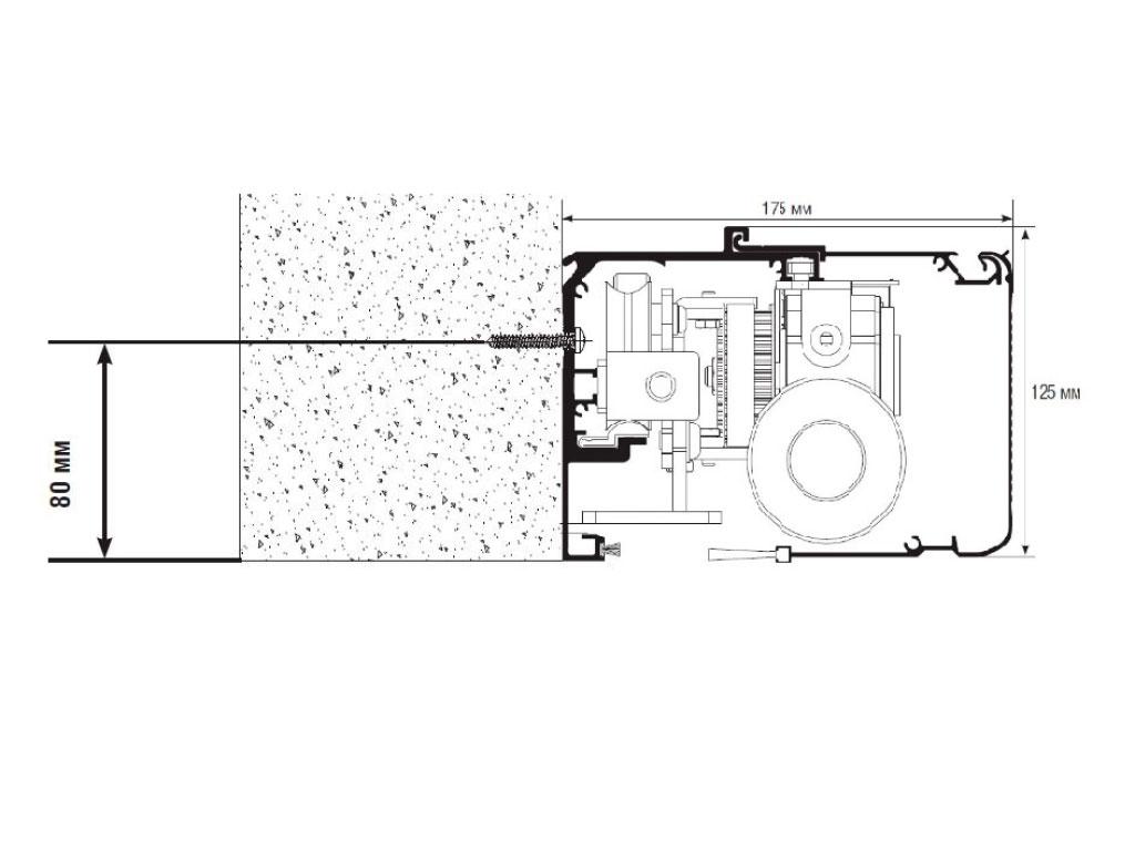 Монтаж короба автоматической двери в проем ДорХан