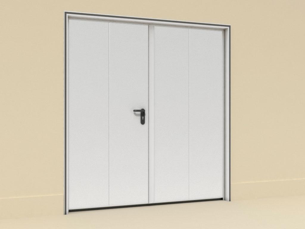 Монтаж-с-внутренней-рамой-Двери-технологические-двустворчатые ДорХан