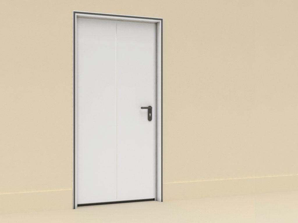 Монтаж-с-внутренней-рамой-Двери-технологические-одностворчатые ДорХан
