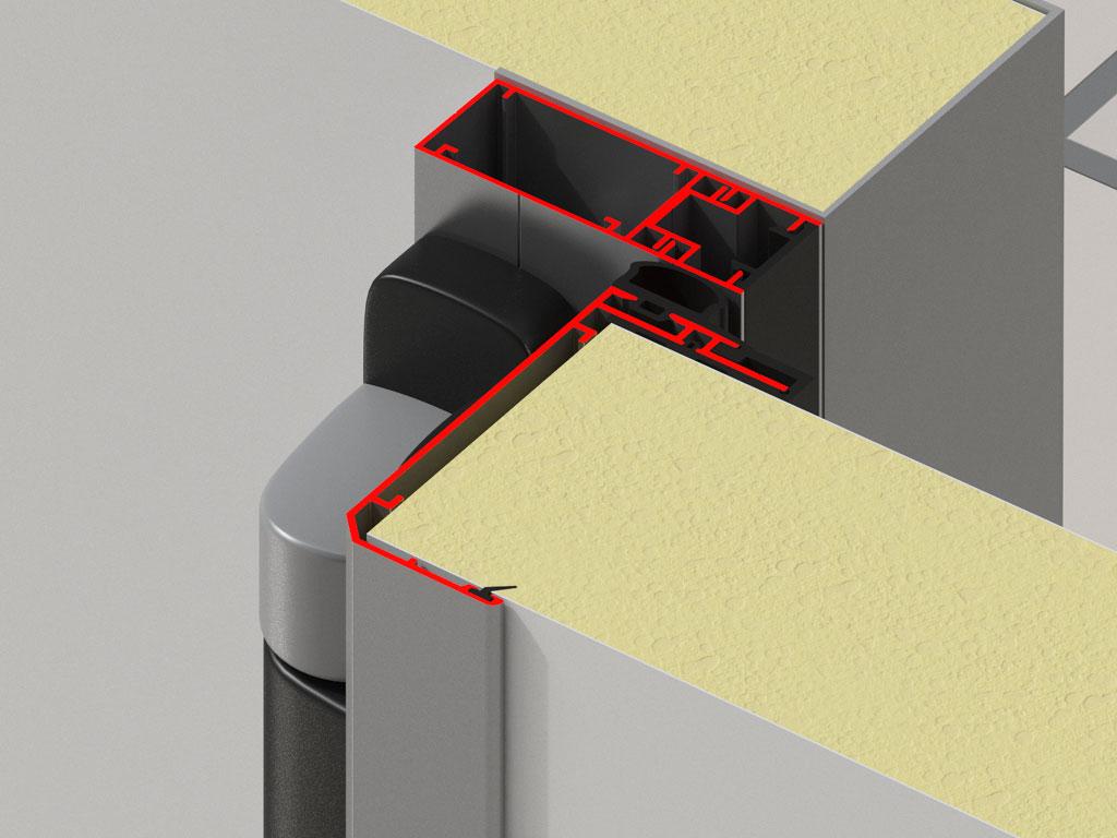 Небольшой вес и коррозионная стойкость благодаря новой конструкции алюминиевых профилей рамы и каркаса полотна ДорХан