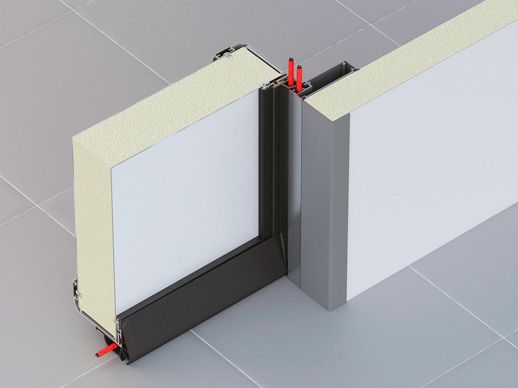 Небольшой вес и повышенная коррозионная стойкость обеспечивается за счет изготовления окантовки полотна и рамы из алюминия ДорХан