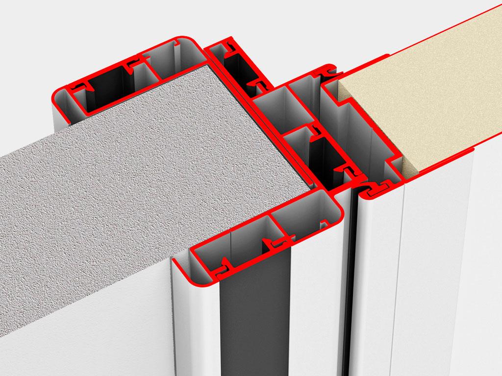 Небольшой вес и высокая коррозионная стойкость обеспечивается за счёт изготовления полотна и рамы из алюминия ДорХан