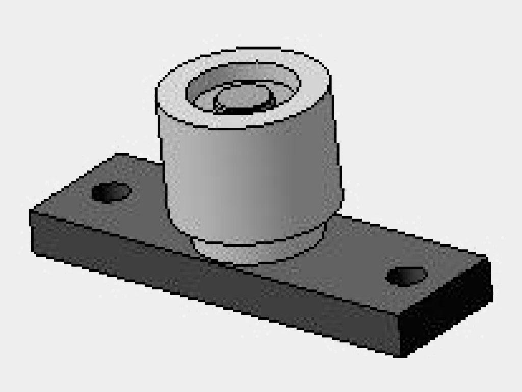 Нижняя направляющая в пол (арт. TPP-001-32D, 2 шт.) ДорХан