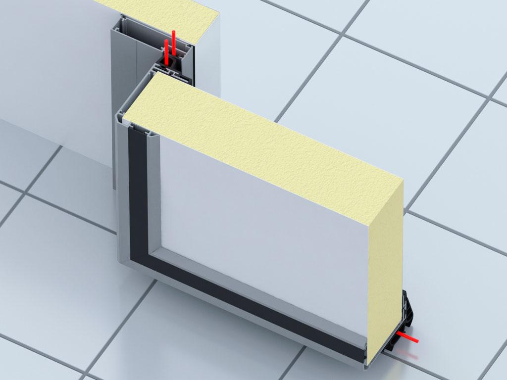 Низкотемпературное исполнение, панель 120 мм с обогревом полотна ДорХан