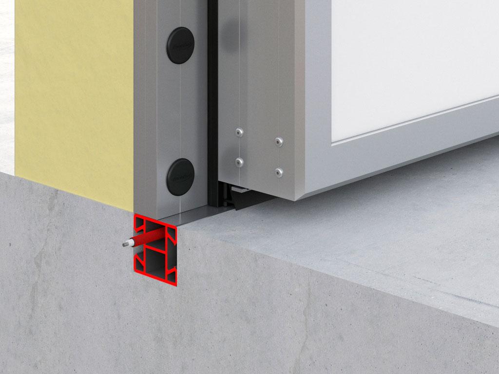Обогрев утапливаемого порога предотвращает промерзание двери даже при самых низких температурах. ДорХан