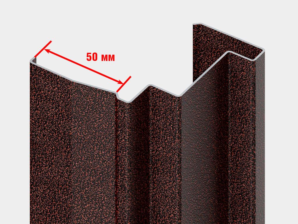 Оцинкованная стальная рама из цельногнутого профиля 1,5 мм. Широкий С-образный наличник шириной 50 мм. ДорХан