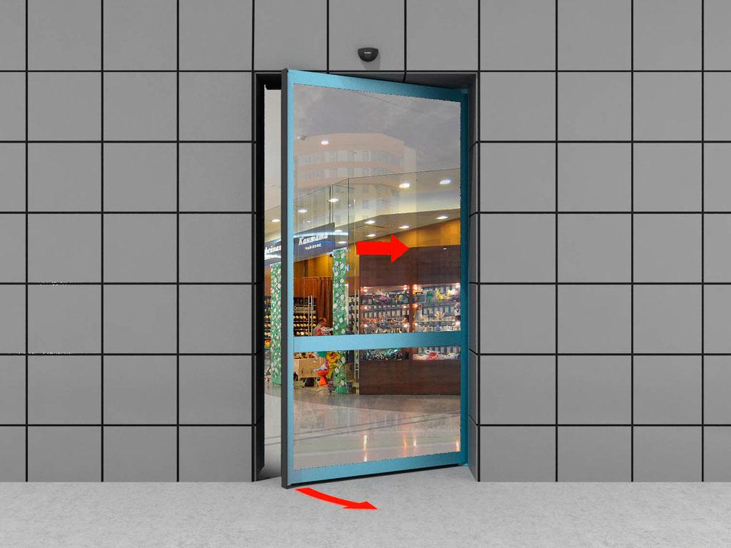 Одностворчатая дверь «антипаника» (с функцией распахивания) ДорХан