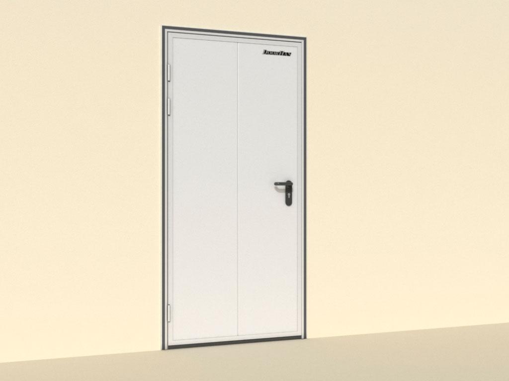 Открытие-влево-Двери-технологические-одностворчатые ДорХан