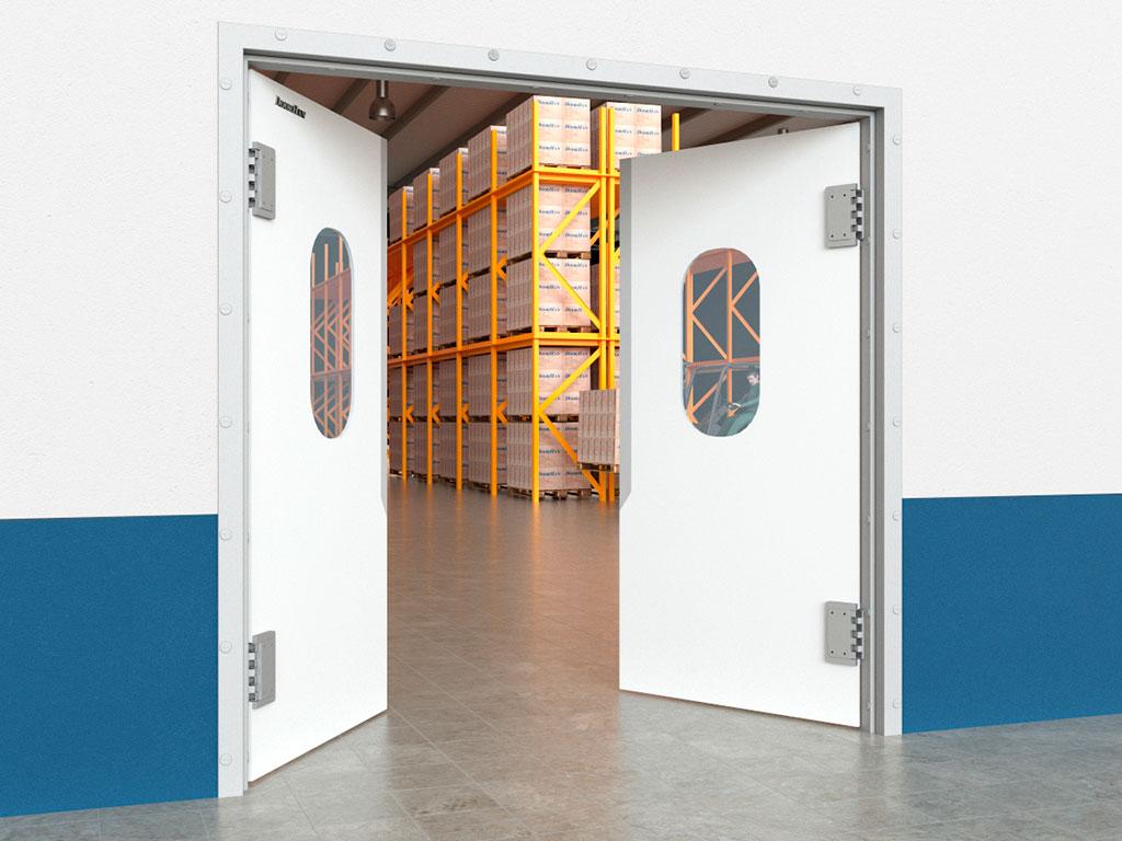 Пластиковые маятниковые двери SWD